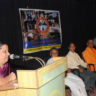 Ms. Malini Hm Pshs School Addresses The Audience