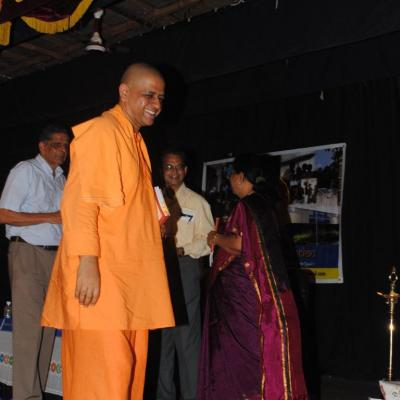 Swamiji Leaving The Dais On Conclusion Of The Function