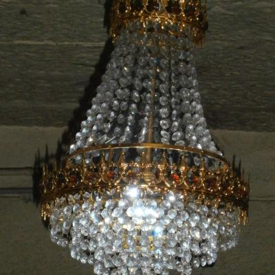 Close View Of Crystal Glass Lamp